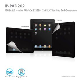 Macally Reusable 4-Way Privacy Screen Overlay for iPad 2 IP-PAD202